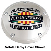 Custom Engraving Ltd. Vietnam Time was Served Derby Cover