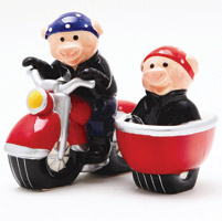 Pacific Trading Wild Hogs Salt and Pepper Shaker Set