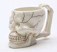 Pacific Trading Ivory Skull Mug