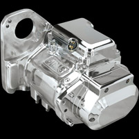 JIMS 5-Speed Close Ratio Transmission Assembly with Polished Case for Softail