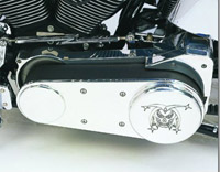 Joker Machine Joker 3″ Open Primary Belt Guard for Softail