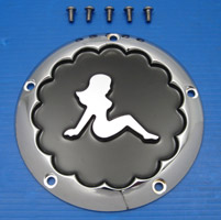 V-Twin Manufacturing Chrome Trucker Girl Derby Cover for Big Twin