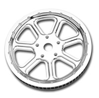 Roland Sands Design Diesel Chrome 65T Forged Aluminum Pulley
