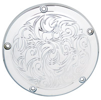 Arlen Ness Engraved Chrome Derby Cover