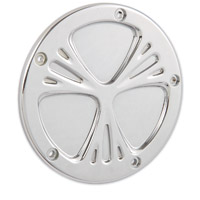 Arlen Ness Deep Cut Chrome Derby Cover for Twin Cam