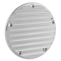 Arlen Ness Retro Chrome Derby Cover for Twin Cam