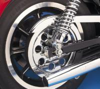 J&P Cycles® Chrome Belt Drive Pulley Insert