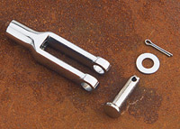 J&P Cycles® Chrome Universal Clevis