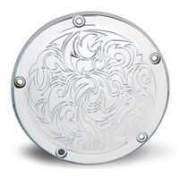 Arlen Ness 5-Hole Engraved Chrome Point Cover for Twin Cam