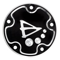 Battistinis 5-Hole Black Points Cover for Twin Cam