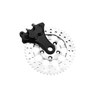 Performance Machine Black Anodized 4-Piston Sprocket-Brake