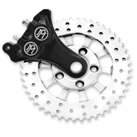 Performance Machine Contrast Cut Sprocket-Brake with Integrated Brake Caliper and Bracket
