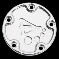 Battistinis Chrome Derby Cover for Big Twin