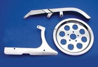 V-Twin Manufacturing Chrome Belt Guard Kit