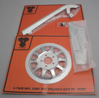 V-Twin Manufacturing Belt Drive and Pulley Chrome Dress Up Kit