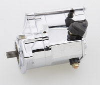 Rivera Primo Chrome 1.7 KW Starter Motor for Big Twins