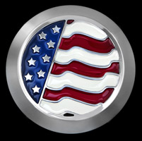 CAT LLC USA Flag Air Cleaner Cover Insert