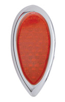 Pro-One Dual Function LED Teardrop Taillight with Red Lens
