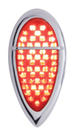 Pro-One Dual Function LED Teardrop Taillight with Bar and Red Lens