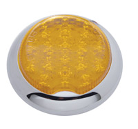 Pro-One Round Flush Mount LED Taillight with Amber Lens