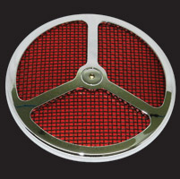 Wimmer Custom Cycle Air Star Cover with Black Screen 3 Window Red Insert