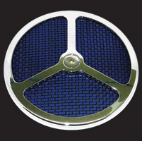 Wimmer Custom Cycle Air Star Cover with Black Screen 3 Window Blue Insert