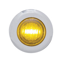 Pro-One Amber LED with Clear Lens Mini Marker Lights