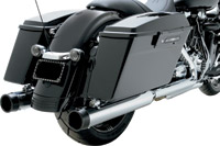 Python 4″ Slip-On Mufflers with Straight Cut Black Billet Tips
