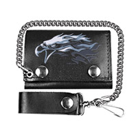 Hot Leathers Eagle Tri-Fold Leather Wallet
