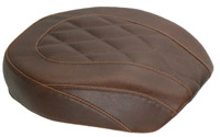Mustang Brown Wide Tripper Passenger Seat with Diamond Stitching