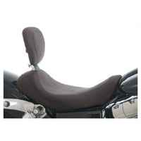 Mustang Black Wide Tripper Solo Seat with Backrest