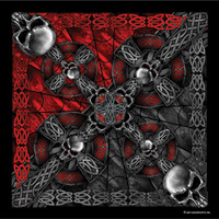 Hot Leathers Bandanas Celtic Cross and Skulls