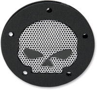Black Wrinkle Skull Accent Points Cover