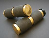 Accutronix Brass Rubber Insert Style Handlebar Grips