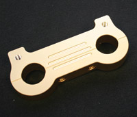 Accutronix Brass Gauge Mount Adapter