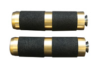 Accutronix Rubber Brass Toe Pegs