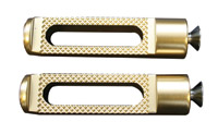 Accutronix Slotted Brass Toe Pegs