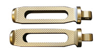 Accutronix Slotted Brass Folding Footpegs