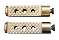 Accutronix Drilled Brass Toe Pegs