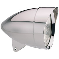 Headwinds 5-3/4″ Polished Mariah Smooth Concours Rocket Headlight