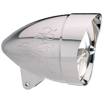 Headwinds 5-3/4″ Concours Rocket Headlight Mariah Flamed