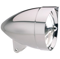 Headwinds 5-3/4″ Polished Vampire Smooth Concours Rocket Headlight