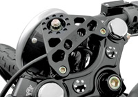 Joker Machine Black Anodized Headlight Bracket