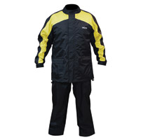 MotoCentric MotoTrek Black/Yellow 2-Piece Rain Suit