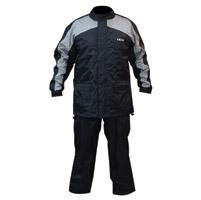 MotoCentric MotoTrek Black/Gun 2-Piece Rain Suit