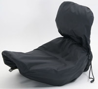 Mustang Solo Seat with Driver Backrest Rain Cover