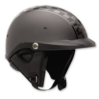 Bell Pit Boss Twin Tone Checker Black Half Helmet