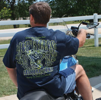 J&P Cycles® V-Twin Navy Blue Pocket Anamosa T-shirt