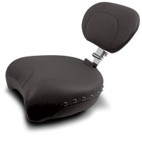 Mustang Black Studded Recessed Passenger Seat with Backrest
