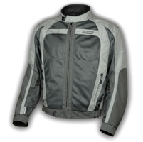 Olympia Moto Sports Men′s Pewter and Silver Switchback Mesh Tech Jacket
